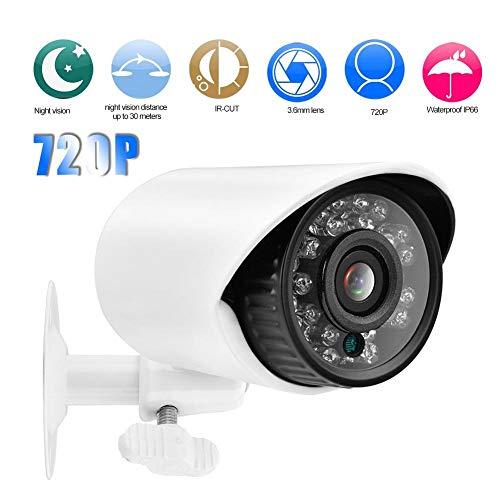 Beveiligingscamera, 1 miljoen pixels 720P AHD nachtzicht infrarood analoge monitor Beveiligingscamera met 24 infraroodlampen (NTSC)
