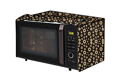 The Furnishing Tree Microwave Oven Cover for Bajaj 23 L Convection (2310 ETC) Floral Pattern Yellow
