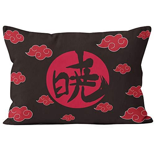 Funda de Almohada cómoda y Agradable al Tacto con temática de Naruto Akatsuki con Personajes de Anime, Adecuada para la Almohada del Coche del Dormitorio de casa