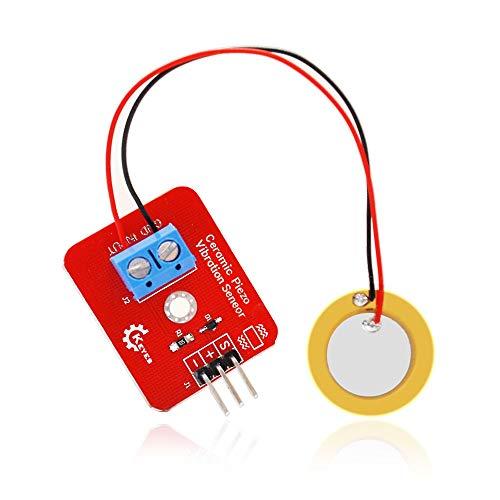 Módulo electrónico Sensor piezoeléctrico Tambor Simular Paralelo cerámica Kit DE vibración del módulo del Sensor piezoelectricidad for A-r-d-u-i-n-o DIY