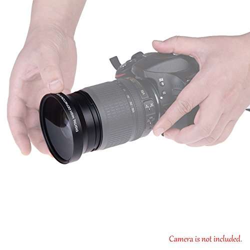 Andoer 67mm Digital High Definition 0,43 × Super Weitwinkel Objektiv Mit Macro Japan Optics für Canon Rebel T3i T5i T4i 18-135mm 17-85mm Nikon 18-105 und 70-300 VR