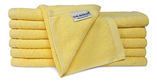 Toalla ecológica de algodón turco de baño de color amarillo