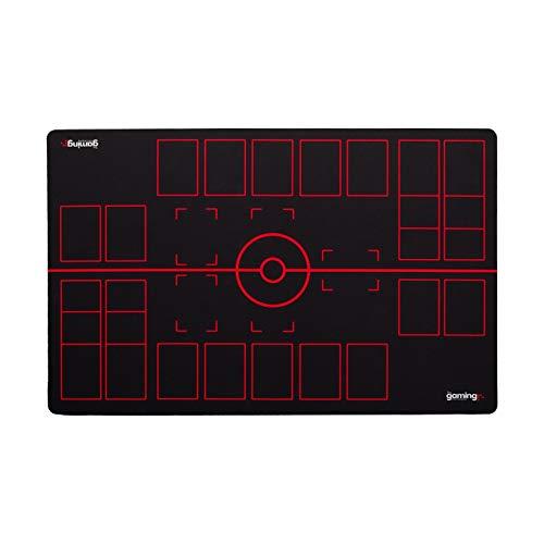 The Gaming Mat Company Tapis de Jeu GMC Deluxe pour 2 Joueurs, Noir, Rouge, Pokemon Stadium