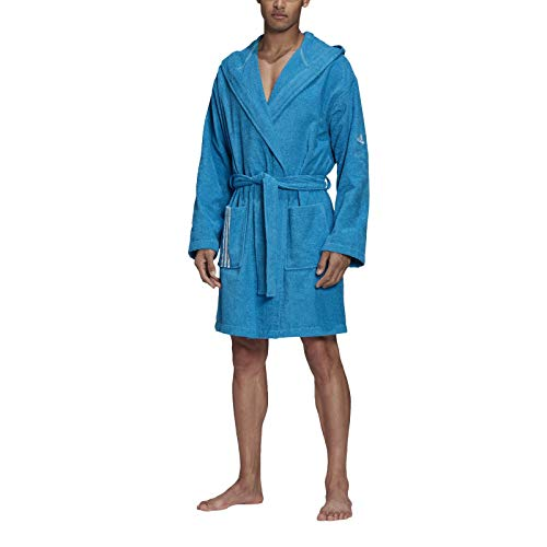 adidas Unisex-Adult Bathrobe Badematel, Shock Cyan, M