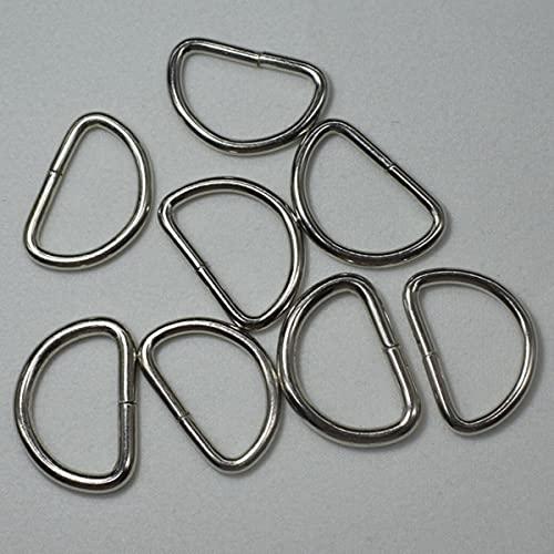 Paquete de 20 Uds, Hebilla de anillo de metal, correas, mochila, bolsa, zapatos, piezas, correa para manualidades de cuero, accesorios de costura para cuello de mascota-10X6X1.5MM, 2