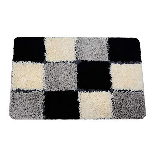 Qingday Moderno Plaid Bath Mat tapijt voor woonkamer slaapkamer antiskid soft rug voor kinderen Decor Solid Floor