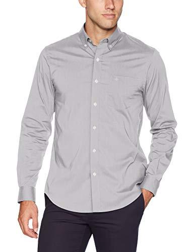 Dockers Men's Long Sleeve Button Up Perfect Shirt, Foil, Medium
