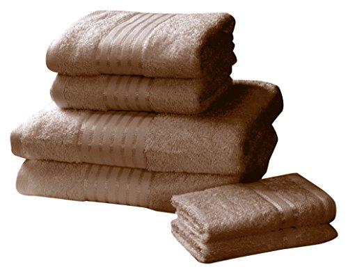 Rapport Windsor–Juego de Toallas (M2), 100% algodón–Chocolate