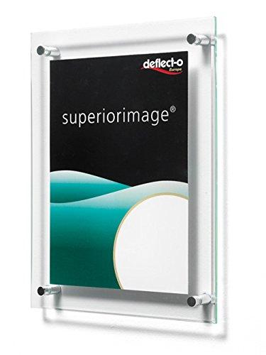 Deflecto 691190 - Soporte de pared para cartel o menú (acrílico, 127 x 178 mm)