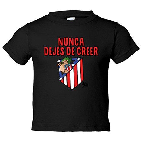 Camiseta niño Atlético de Madrid nunca dejes de creer 2 Jorge Crespo - Negro, 12-14 años