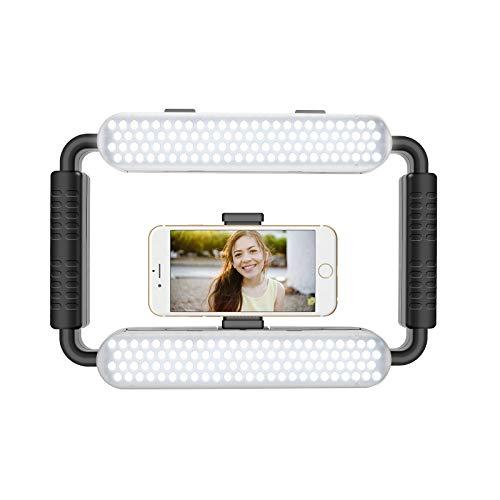 GVM Great Video Maker LED Ring Light 5600K Selfie Light, Smartphone Video Rig & Phone Video Stabilizer for Camera, Smartphone, Makeup, YouTube Setup, Self-Portrait Shooting with Bluetooth