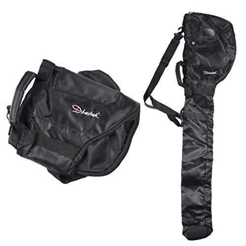 #N/A Durable Nylon Golf Travel Bag Foldable Club Carry Bag