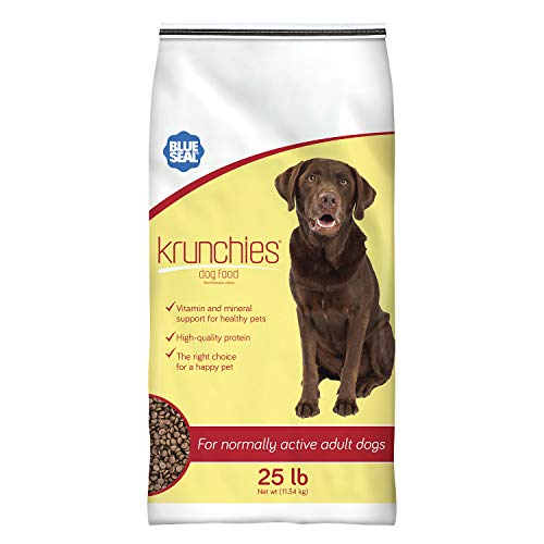 Blue Seal Kent Nutrition Krunchies Adult Dog Food 25 Lbs. No Soy, No Artificial Colors or Preservatives, Nutritionally Complete with Added Vitamins and Minerals