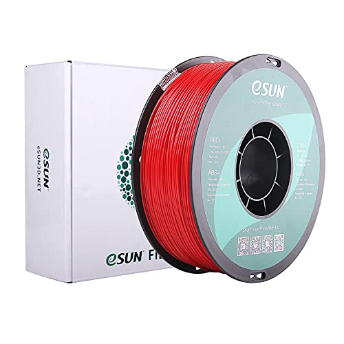 eSUN Filamento ABS Plus 1.75mm, Stampante 3D Filamento ABS+, Precisione Dimensionale +/- 0.05mm, Bobina da 1KG (2.2 LBS) Materiali di Stampa 3D per Stampante 3D, Rosso Scuro