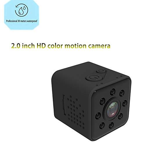 Zoiseo HD glazen lens Action Cam, infrarood nachtzicht, 155 super brede kijkhoek, ingebouwde magneet, opname tijdens het vullen