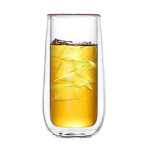 WxberG [Paquete de 2, 13 onzas] copas de champán sin tallo, vasos para beber, cristalería multiusos para beber vino. (Tamaño: 200 ml/7 onzas)