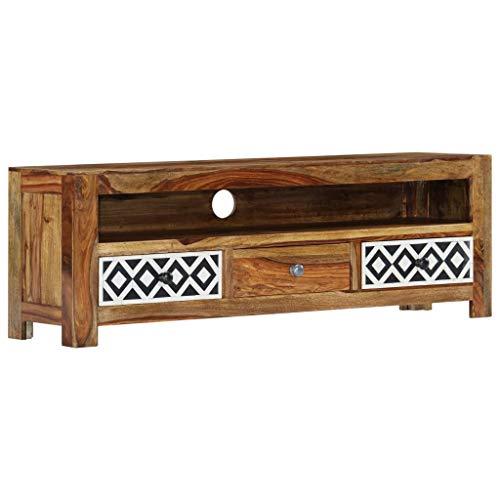 Nishore - TV-Schrank mit 3 Schubladen und einem offenen Fach TV-Lowboard Fernsehschrank Fernsehtisch 120 x 30 x 40 cm (L x B x H)