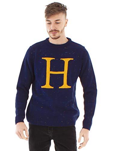 HARRY POTTER Jersey Azul Unisex Tejido Premium Harry Letter H
