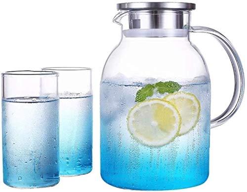 Tetera reutilizable con tapa de cristal, ideal para té helado, café, leche y botellas de zumo, fácil de limpiar, resistente al calor (tamaño: 12,8 x 23 x 8,5 cm) (tamaño: 12,8 x 23 x 8,5 cm)