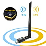 WiFi Adapter for PC Gaming 1300Mbps, USB 3.0 Wireless Adapter Dual Band 5GHz