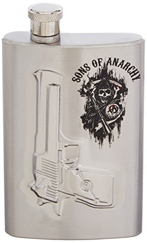 Sons of Anarchy Gun Logo 6 oz. Flask