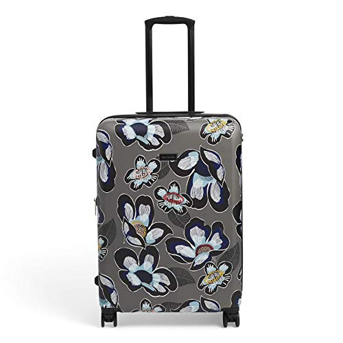 Vera Bradley Women's 26' Hardside Rolling Suitcase Luggage, Grand Blooms Shower, One Size