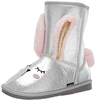Muk Luks Girl s Bunny Boots Fashion sliver 13 M US Little Kid