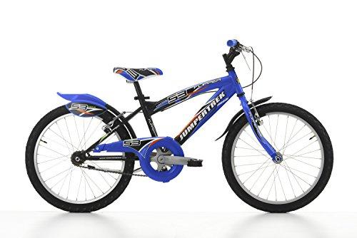 Cicli Cinzia Bicicletta 20' MTB Flipper per Bimbo, Senza Cambio, V-Brake Alluminio, Nero/Blu
