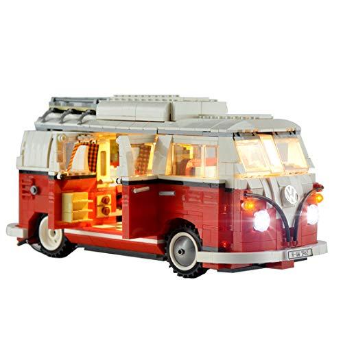POXL Conjunto de Luces LED para ( Furgoneta Volkswagen T1 ) Modelo - Kit de Led Juego de Luces Compatible con Lego 10220(Lego Set No Incluido)
