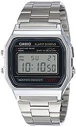 Casio Vintage Series Digital Grey Small Dial Men's Watch-A158WA-1Q (D011),Casio,EAW-A-158WA-1,A158WA-1D,Youth Digital