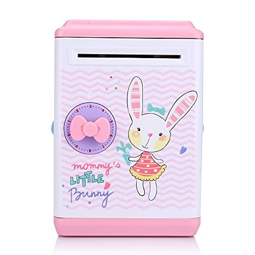 Fudax Olla de Ahorro, Hucha Duradera, para Regalo de Dormitorio, hogar para niños(Bunny)