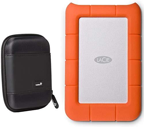 LaCie Rugged Mini 5TB External Hard Drive USB 3.0 / USB 2.0 (LACSTJJ5000400) with Compact Portable Hard Drive Case