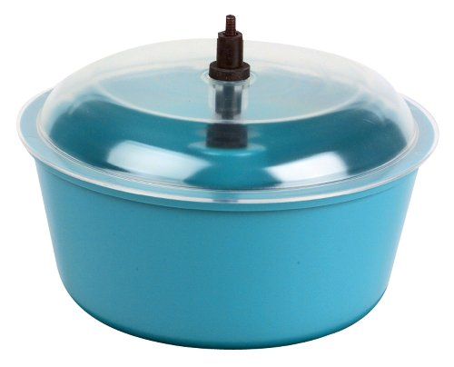 Raytech 23-005 Polyethylene Bowl with Lid, 0.05 Cubic feet Capacity, 8  Diameter, for TV-5 Standard Vibratory Tumbler