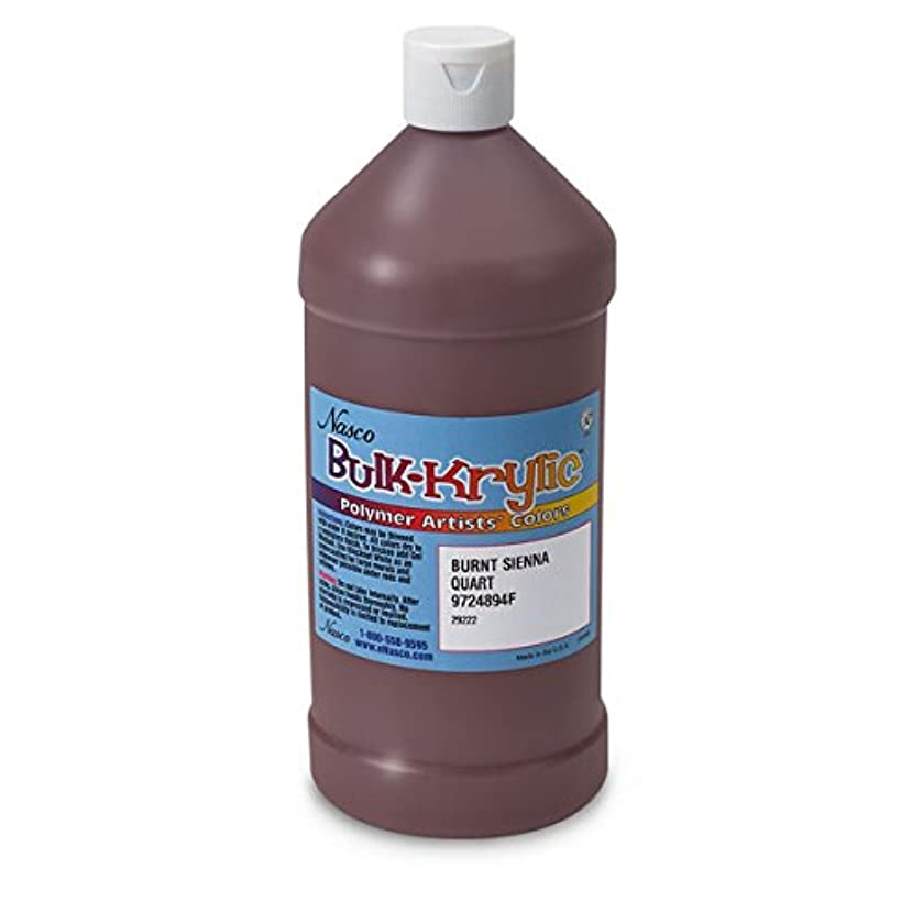 Nasco 9724894(F) Bulk-Krylic Acrylic Paint, 1 quart, Burnt Sienna