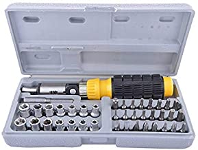 MOHAK Tool Kit Screwdriver Set - 41 in 1 Pcs Tool Kit Screwdriver for Car and Bike Repairing Tool Kit and Also for Home use