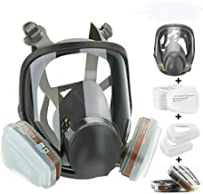 JOEAIS 15in1 Full Face Large Size Respirator,Full Face Wide Field of View,Widely Used in Organic Gas,Paint spary, Chemical,Woodworking for 6800