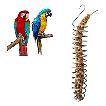 Malsyee Mangeoire à oiseaux, jouet de recherche pour perroquet, fruits et légumes, pour perruche, calopsitte, conure, gris du Gabon, cacatoès, ara, pinson, panier de nourriture