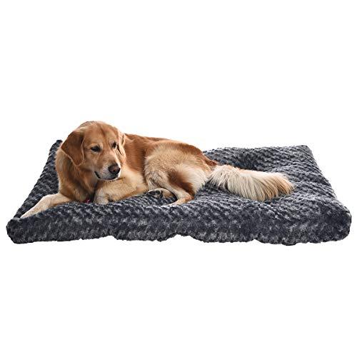 Amazon Basics - Cama para mascotas - 1,16 m, gris en espiral