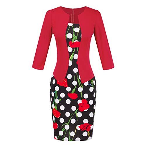 AMhomely - Vestido de mujer para mujer, diseño de cuadros de colores a cuadros para el trabajo, fiesta de negocios, vestido de fiesta, talla grande