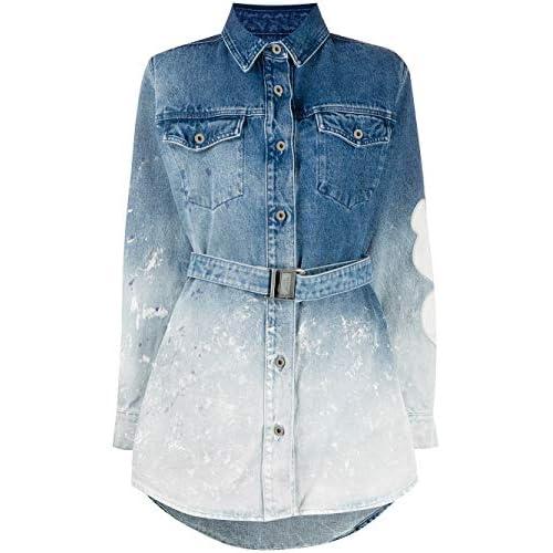 OFF-WHITE Luxury Fashion Donna OWYM002R207730987171 Blu Cotone Vestito | Primavera-Estate 20
