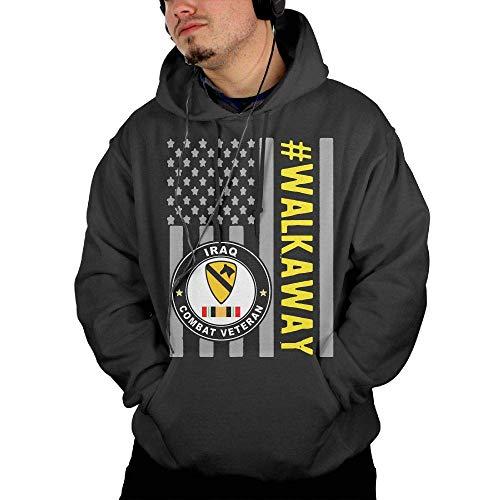 EYSKJ Kapuzenpullover,Hemden Tops 1st Cavalry Division Sticker Iraq Combat Veteran Men's Pullovers, Hoodies Sleeve Sweatshirt