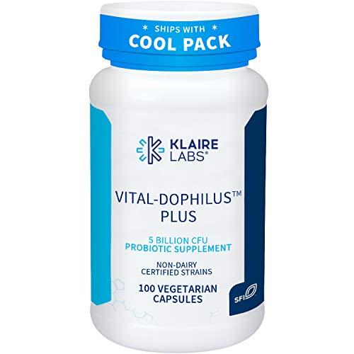 Klaire Labs Vital-Dophilus Plus Probiotic - 5 Billion CFU Lactobacillus acidophilus & rhamnosus for Kids, Men & Women, Hypoallergenic & Dairy-Free (100 Capsules)
