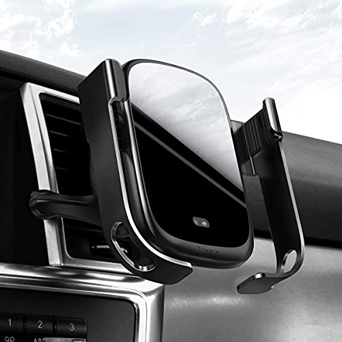 Baseus Caricatore Wireless Auto,con sensore a infrarossi, 10W, Ricarica Qi Compatibile con Samsung S10, S9, S8 Plus Note 9, 7.5W per iPhone XS, XR, XS, Max X, 8 Plus, Huawei P30 PRO