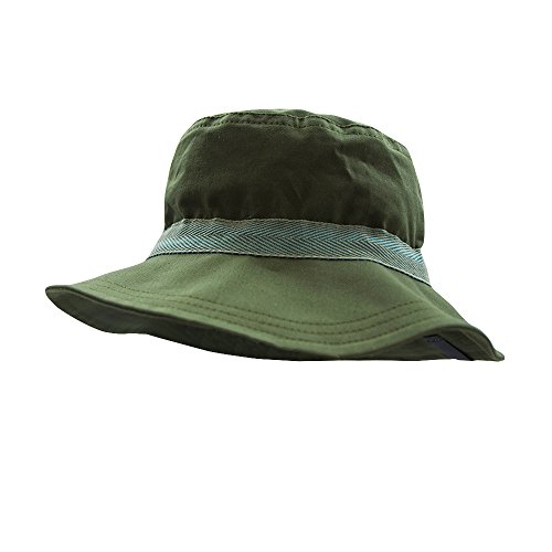 PICKAPOOH Sonnenhut Olaf mit UV-Schutz Bio-Baumwolle, Olive Gr. 60