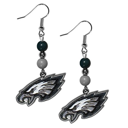 NFL Philadelphia Eagles Fan Bead Dangle Earrings