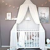 HOMIXES Baby Baldachin Betthimmel Kinder Moskitonetz aus Baumwolle Insektenschutz Spielzimmer innen außen Lesezelt für Schlafzimmer Dekoration
