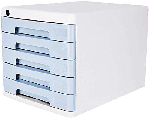 Bequeme Hand-Pull-Aktenschränke, Abschließbare Schublade Büroablage Aktenschrank Design Schlanke Mode Sinn Erdrutsch Spur Kunststoff (Farbe: Grau)