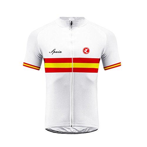 Uglyfrog Bandera de España Designs Maillot Ciclismo Hombre, Maillot Bicicleta Hombre, Camiseta...
