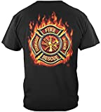 Fire Fighter Firefighters Apparel for Men | Fire Department Red Line Shirts | Fire Fighter | Tshirt-ADD126-FF2065-4XL