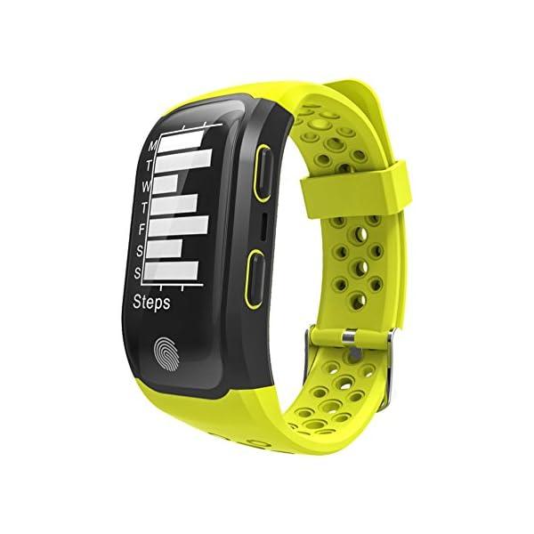 Rungao Pulsera Smart inteligente con sensor de ritmo cardíaco, GPS, monitor de sueño, podómetro, resistente al agua… 3
